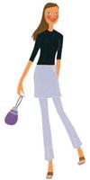 巾着を持っている女性 02463000211| 写真素材・ストックフォト・画像・イラスト素材|アマナイメージズ