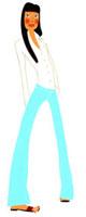 背筋をそらして立っている女性 02463000218| 写真素材・ストックフォト・画像・イラスト素材|アマナイメージズ