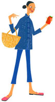 カゴを持って買い物しているチャイナ服の女性 02463000219| 写真素材・ストックフォト・画像・イラスト素材|アマナイメージズ