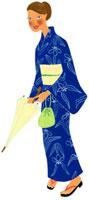 浴衣姿の女性 02463000226| 写真素材・ストックフォト・画像・イラスト素材|アマナイメージズ