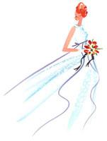 ウェディングドレスを着た女性 02463000276| 写真素材・ストックフォト・画像・イラスト素材|アマナイメージズ