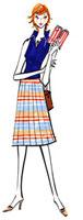 手帳を見ている女性 02463000281| 写真素材・ストックフォト・画像・イラスト素材|アマナイメージズ
