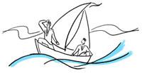 船に乗っているビジネスマン 02463000309| 写真素材・ストックフォト・画像・イラスト素材|アマナイメージズ
