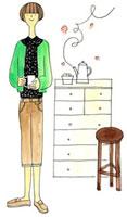 部屋の中でお茶をしている女性 02463000351| 写真素材・ストックフォト・画像・イラスト素材|アマナイメージズ