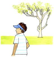 散歩する日焼けした男性 02463000365| 写真素材・ストックフォト・画像・イラスト素材|アマナイメージズ