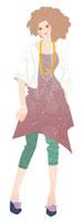 アクセサリーをつけた夏服の女性美容師 02463000380| 写真素材・ストックフォト・画像・イラスト素材|アマナイメージズ