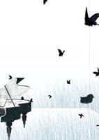 ピアノと蝶