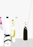 カラフルなボトル