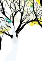 枯れ木と花 02463000398| 写真素材・ストックフォト・画像・イラスト素材|アマナイメージズ