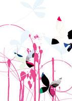 花と流れるペンキ 02463000434| 写真素材・ストックフォト・画像・イラスト素材|アマナイメージズ
