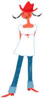 赤い帽子をかぶった夏服の10代女性 02463000515| 写真素材・ストックフォト・画像・イラスト素材|アマナイメージズ