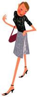 バッグを片手に歩いているOL 02463000517| 写真素材・ストックフォト・画像・イラスト素材|アマナイメージズ