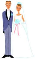 ウェディングドレスをきたカップル 02463000519| 写真素材・ストックフォト・画像・イラスト素材|アマナイメージズ