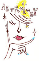 astorologyの文字と目をふせる女性 02463000524| 写真素材・ストックフォト・画像・イラスト素材|アマナイメージズ