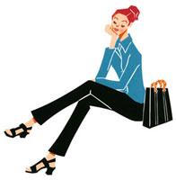 座って考え事をしている女性 02463000555| 写真素材・ストックフォト・画像・イラスト素材|アマナイメージズ