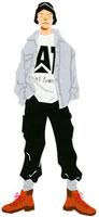 ポケットに手をいれて立っている20代男性 02463000558| 写真素材・ストックフォト・画像・イラスト素材|アマナイメージズ