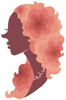 横顔の女性シルエット