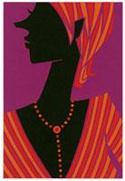 ストライプの洋服を着たショートヘアの女性横顔 02463000600| 写真素材・ストックフォト・画像・イラスト素材|アマナイメージズ
