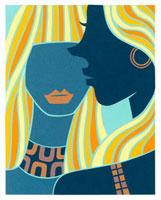 ロングヘアの女性2人