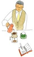コーヒーを淹れる男性 02463000762| 写真素材・ストックフォト・画像・イラスト素材|アマナイメージズ
