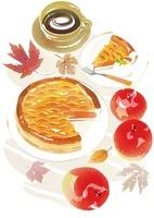 アップルパイとリンゴとコーヒー