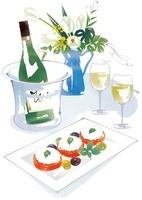 シャンパンとオードブル
