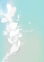 白いフラワーイメージ