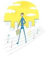街中を歩いている会社員