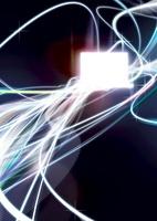 ノートパソコンと光のイメージ