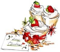 カップケーキと手紙 02463000832| 写真素材・ストックフォト・画像・イラスト素材|アマナイメージズ