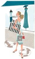 ショッピングをしている女性 02463000853| 写真素材・ストックフォト・画像・イラスト素材|アマナイメージズ