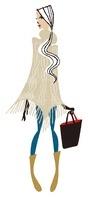 ポンチョを着ている女性 02463000882| 写真素材・ストックフォト・画像・イラスト素材|アマナイメージズ