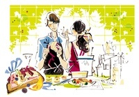 料理を作っている女性と男性 02463000889| 写真素材・ストックフォト・画像・イラスト素材|アマナイメージズ