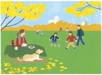 公園で遊んだりコーヒーを飲んだりしている人々 02463000932| 写真素材・ストックフォト・画像・イラスト素材|アマナイメージズ