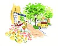 外国風の街を歩いている女性 02463000972| 写真素材・ストックフォト・画像・イラスト素材|アマナイメージズ