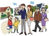 街と家族 02463000986| 写真素材・ストックフォト・画像・イラスト素材|アマナイメージズ