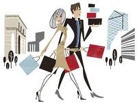 外国風な街でショッピングをしているカップル 02463000990| 写真素材・ストックフォト・画像・イラスト素材|アマナイメージズ