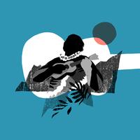 ウクレレを弾いている人のシルエット 02463001045| 写真素材・ストックフォト・画像・イラスト素材|アマナイメージズ