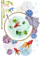風鈴と金魚と花火と竹