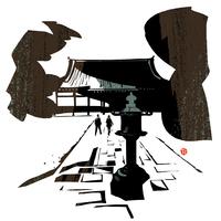 寺と参道 02463001089| 写真素材・ストックフォト・画像・イラスト素材|アマナイメージズ