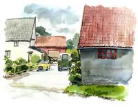 郊外の家々と車 02463001104| 写真素材・ストックフォト・画像・イラスト素材|アマナイメージズ