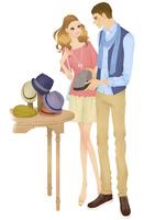 買い物をするカップル 02463001222| 写真素材・ストックフォト・画像・イラスト素材|アマナイメージズ