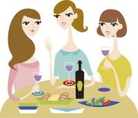 食事をする女性達