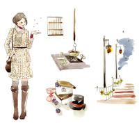冬のファッションと女性