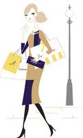 街でショッピングする女性 02463001301| 写真素材・ストックフォト・画像・イラスト素材|アマナイメージズ