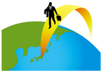 地球とビジネスマン