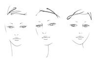 顔の線画イラスト
