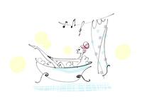 お風呂に入っている女性 02463001325| 写真素材・ストックフォト・画像・イラスト素材|アマナイメージズ