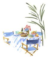 テーブルの上の料理 02463001337| 写真素材・ストックフォト・画像・イラスト素材|アマナイメージズ