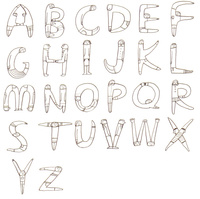 人で形作ったアルファベット